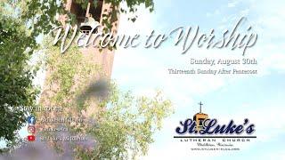 Sunday Worship - August 30th, 2020