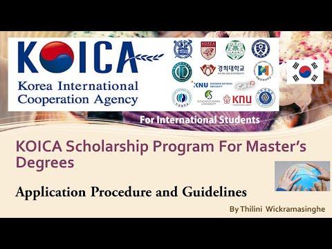 Korea International Cooperation Agency / KOICA Scholarship Program for Master Studies