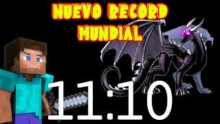 ✅ Esta persona SE PASÓ MINECRAFT en 11:10 Record MUNDIAL SPEEDRUN MINECRAFT