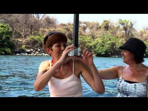 Boat Trip on Lake Malawi. Karen and Debbie.