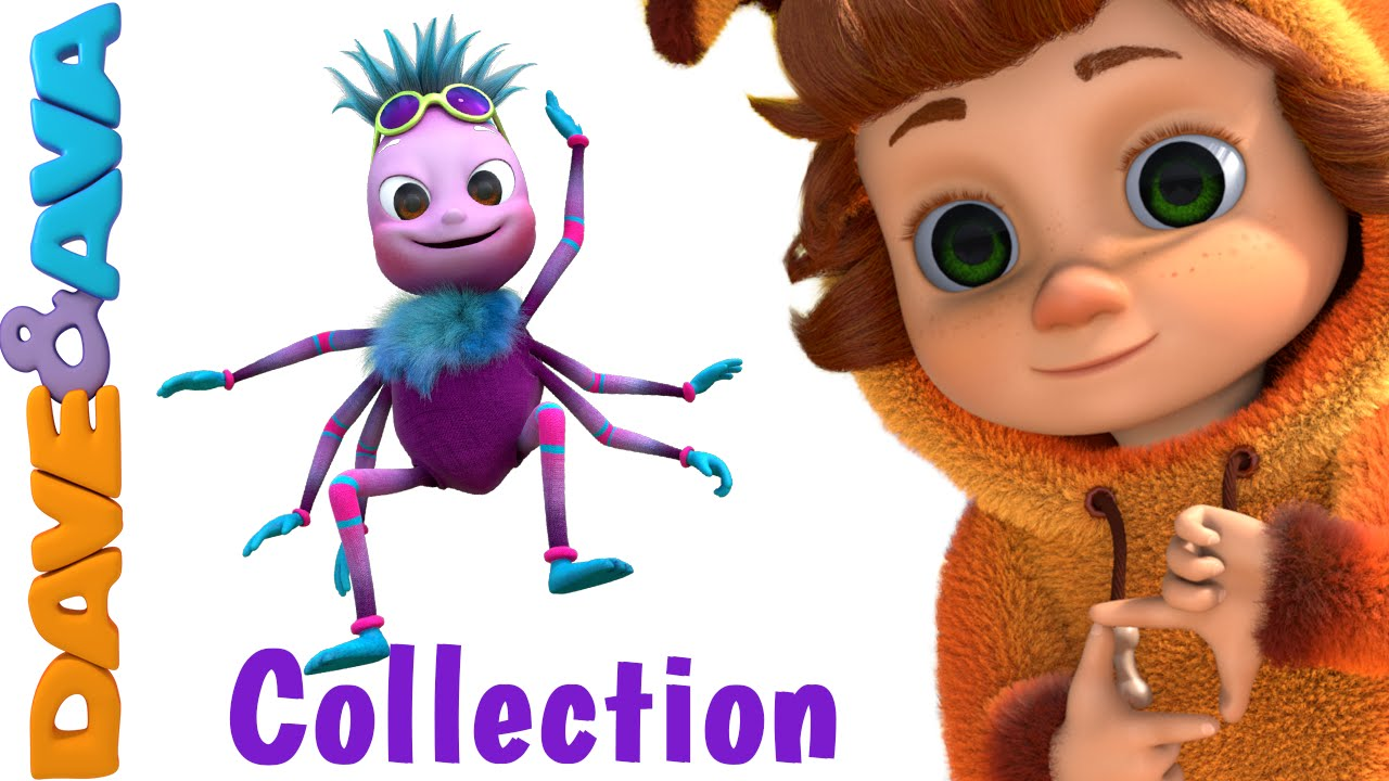 Itsy Bitsy Spider Nursery Rhymes Compilation Youtube Nursery Rhymes From Dave And Ava Youtube