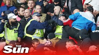 Hungary fans clash with cops at Wembley riot