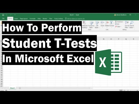 How To Perform T-Tests In Microsoft Excel