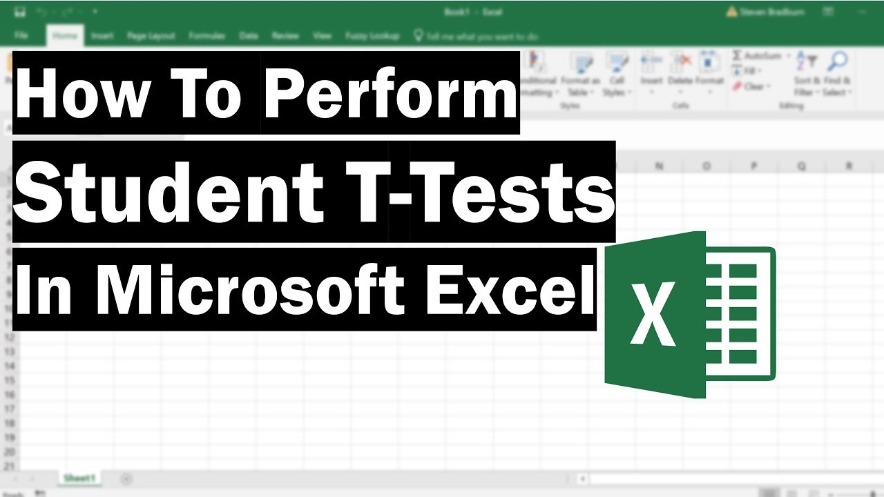 How To Perform T Tests In Excel