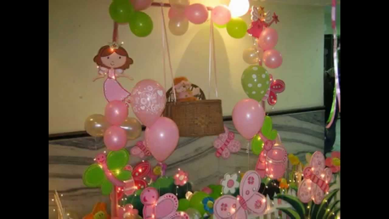 Flower and butterfly theme party decor youtube izmirmasajfo