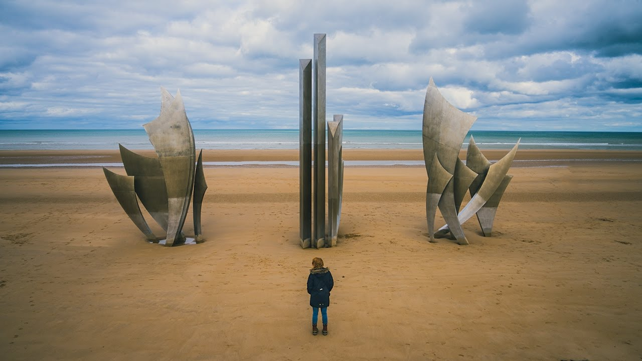 WWII D-DAY LANDING SITE IN NORMANDY! (Omaha Beach, France)