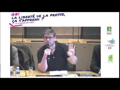 LIVE-TCHAT « LA LIBERTE DE LA PRESSE, CA S'APPREND »