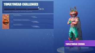 NEW challenges for SKIN In fortnite Battle Royale (What are the Tomato head Challenges)