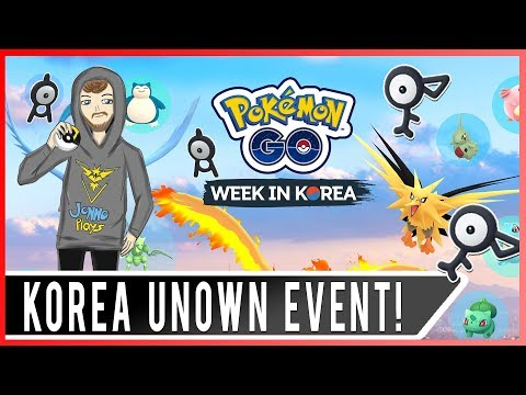 POKEMON GO KOREA UNOWN EVENT! Unown Now Spawning in Lotte Mall! Korea Unown Event Coords!