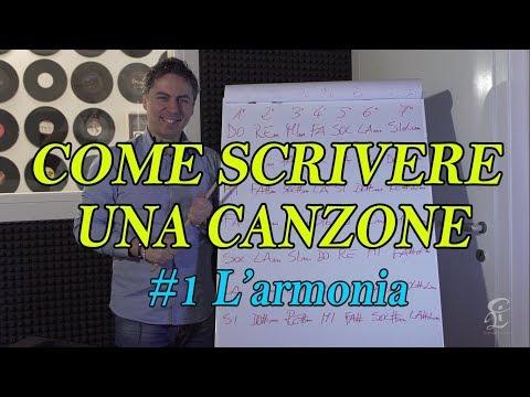 SCRIVERE UNA CANZONE PASSO PASSO – #1 L'armonia - Partiamo dagli accordi da poter utilizzare