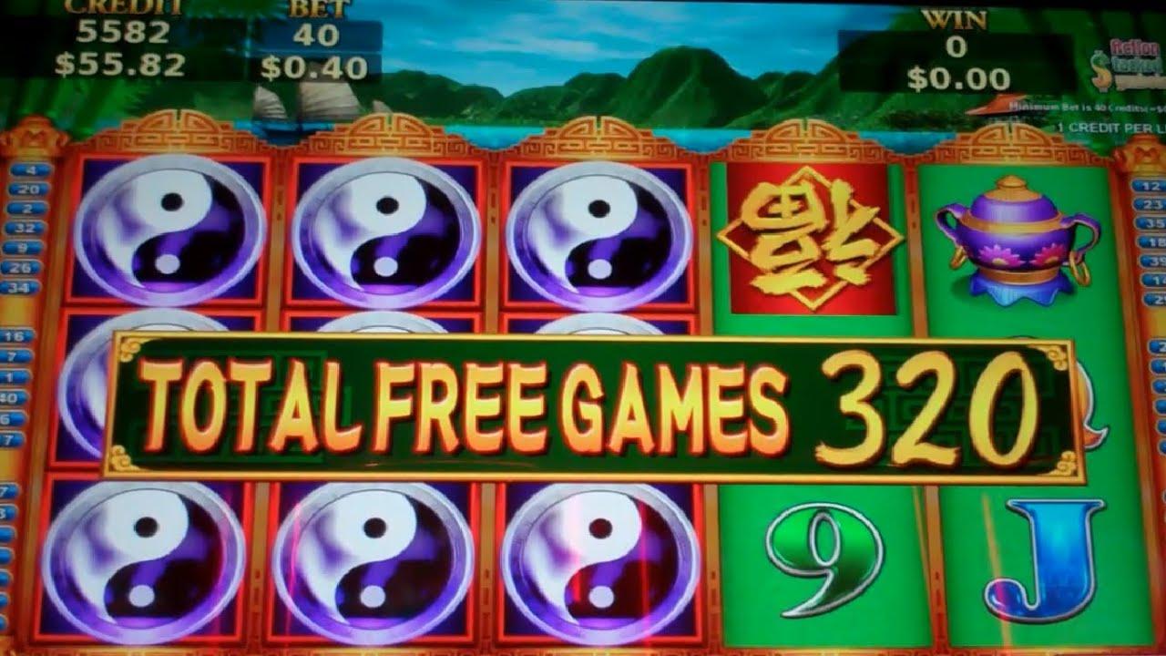Big win on china shores slot machine