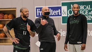 All-Access: P.J. Tucker's First Practice In Milwaukee | Bucks Beat Boston, Win 8th Straight Game