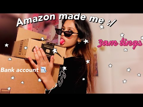 unboxing random stuff I ordered from Amazon *at 3 am*