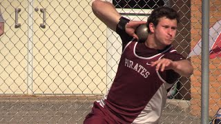 Michael Shoaf's 1st regional shot put title sends him back to state thumbnail
