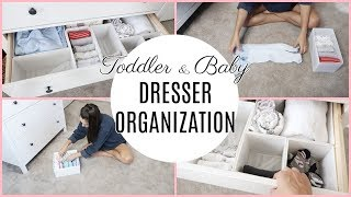 TODDLER AND BABY CLOTHES ORGANIZATION // DRESSER ORGANIZATION // Organize and Declutter With Me 2018