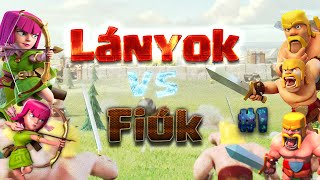 Clash Of Clans Magyarul   Lányok vs Fiúk #1   Clash Babes vs Clash Swords