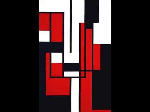 André Volten (1925-2002) - beeldhouwer en kunstschilder - 1957' abstract geometric paintings