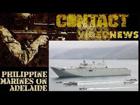 Philippine Marine Corps train with HMAS Adelaide