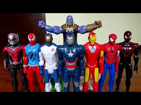 Toys Marvel Action Figures! Ant-man, Scarlet Spider, Iron Man, Thanos, and more! - 동영상