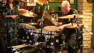 Chris Slade (AC/DC) playing drums
