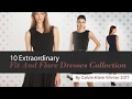 10 Extraordinary Fit And Flare Dresses Collection By Calvin Klein Winter 2017