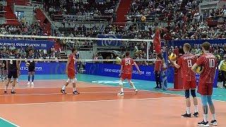 Волейбол. Нападающий удар. Сборная России и сборная Ирана. Часть. 3