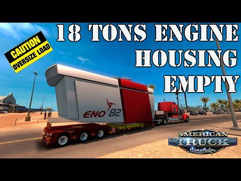 ATS Mods - 18 Tons Engine Housing Empty