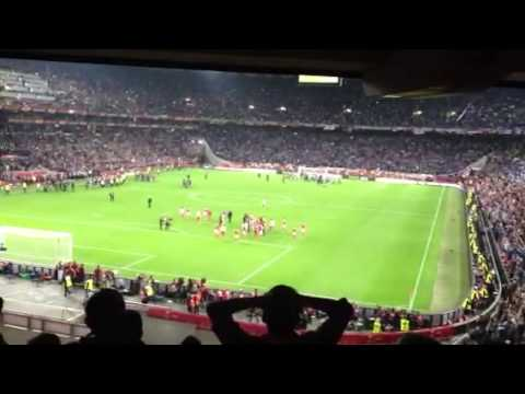 Players Benfica and their fans after final Europe League