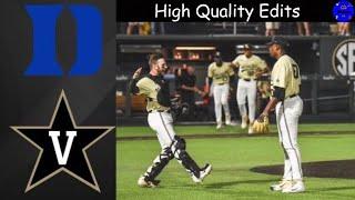 Kumar Rocker No Hitter All 27 Outs | #2 Vanderbilt vs Duke | College Baseball Highlights