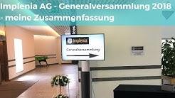 Implenia AG - ordentliche Generalversammlung 2018 - meine Zusammenfassung für AMT