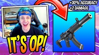 NINJA REACTS TO NEW SUPRESSED SMG BUFF! *OVERPOWERED* Fortnite SAVAGE & FUNNY Moments