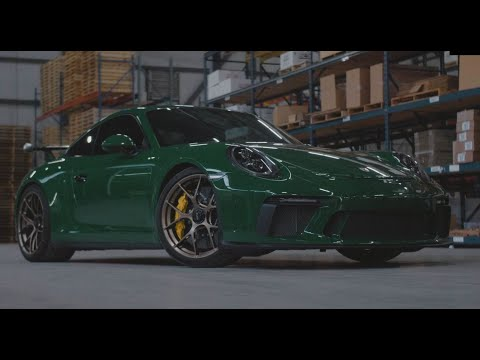 This is a car sure to make you green with envy!  Check out footage of this souped up Irish green Porsche GT3 riding out on bronze colored BBS FI-R wheels.   Follow this amazing automobile as it rips around the streets of Atlanta, then takes a trip inside