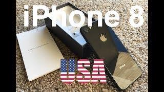 USA AppleStore - Розпакування iPhone 8 Black і Silver + тест камери!