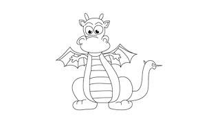 dragons dragon draw drawing simple easy step getdrawings