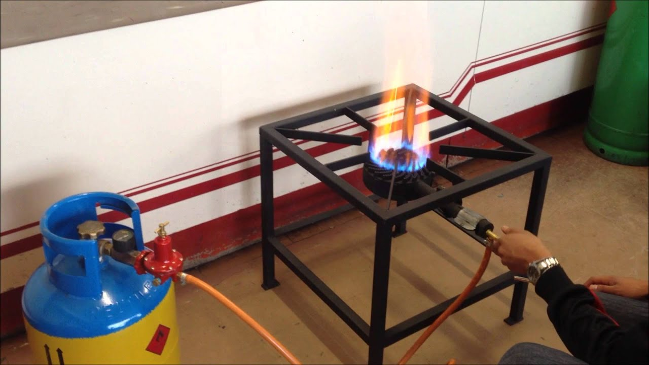 High Pressure Gas Stove : Single burner high pressure gas stove demo youtube
