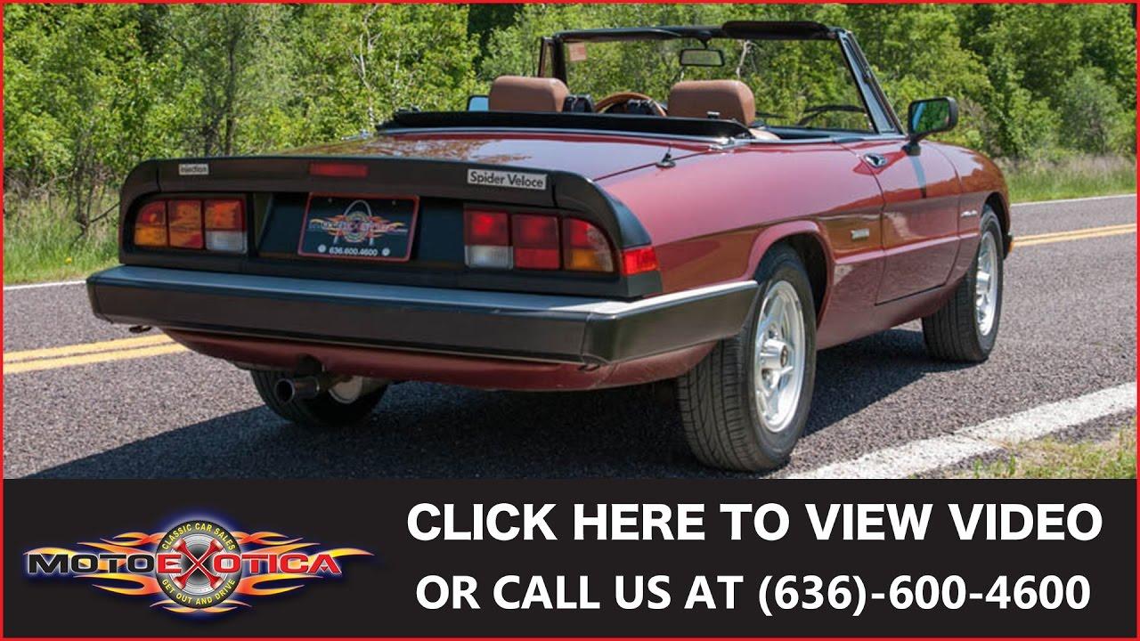 1988 alfa romeo spider veloce (sold) - youtube