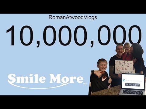 ROMAN ATWOOD 10 MIO SUBSCRIBER COUNTDOWN!!!