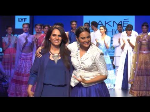 Sonakshi Sinha On Ramp In 'Lakme Fashion Week'2016 Designer Anita Dongre