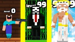 Evolving MAX LEVEL NOOB to GOD in Noob vs Pro vs Hacker 3: Tsunami of Love