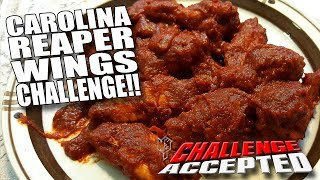 CAROLINA REAPER WINGS CHALLENGE│WORLD'S HOTTEST PEPPER!!