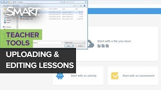 SMART Learning Suite Online: Uploading and editing lessons (Nov 2019)