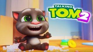 Мой Говорящий Том 2 #11 Котик переел мороженного My Talking Tom 2 #УШАСТИК КИДС