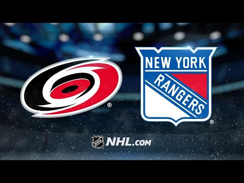 Vesey nets hat trick as Rangers double up Hurricanes
