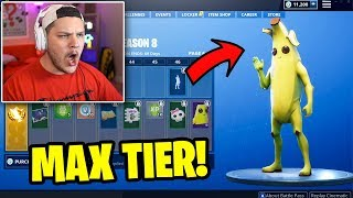 Buying All 100 Battle Pass Tiers - Fortnite Season 8