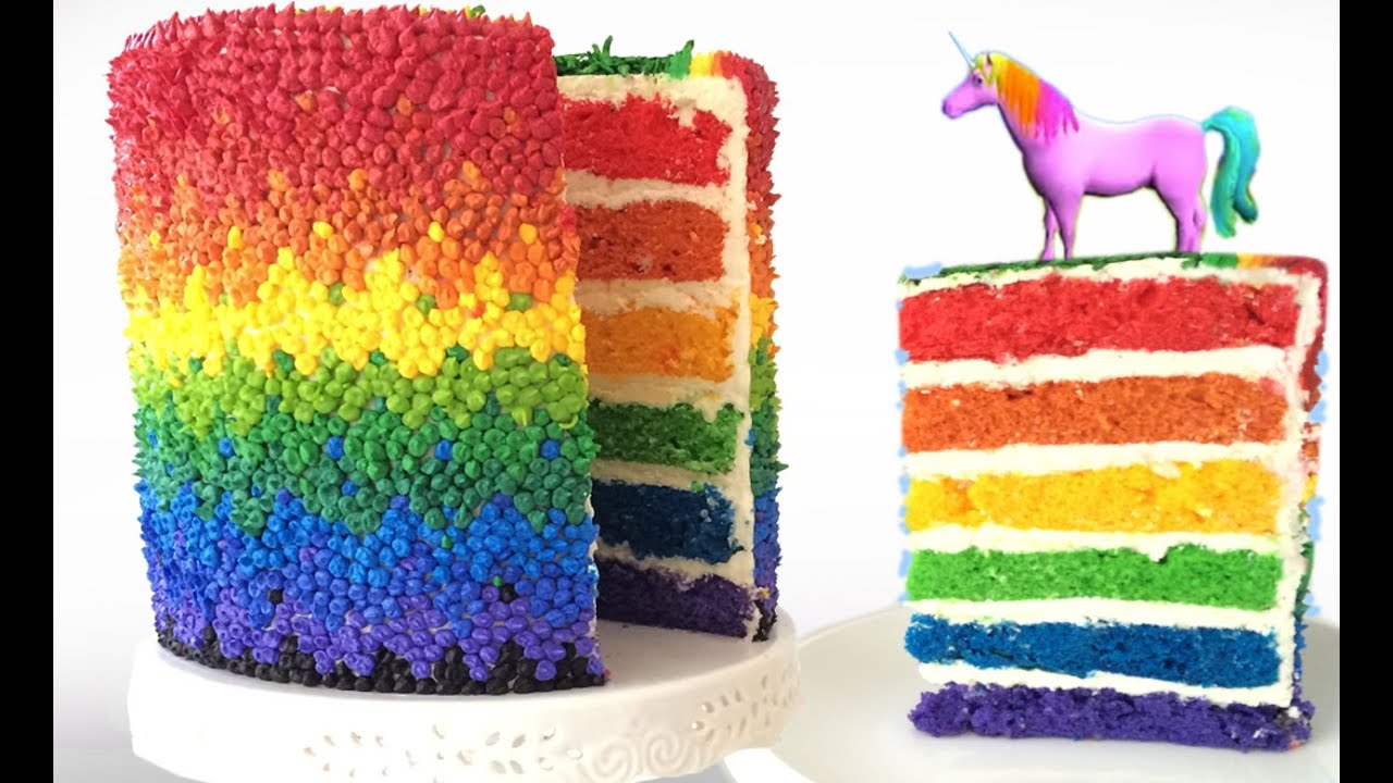 RAINBOW CAKE UNICORN How To Cook That Rainbow Cake by Ann Reardon ...