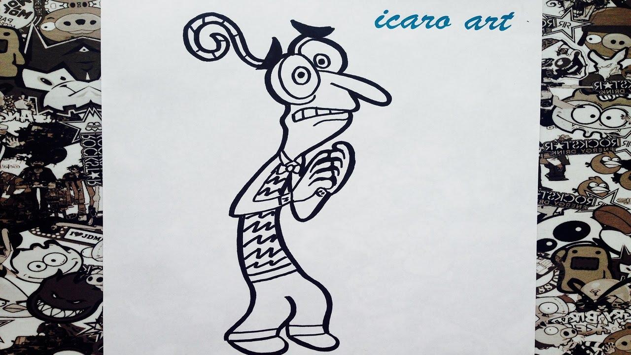 Como Dibujar A Temor De Intensamente How To Draw Temor Inside Out