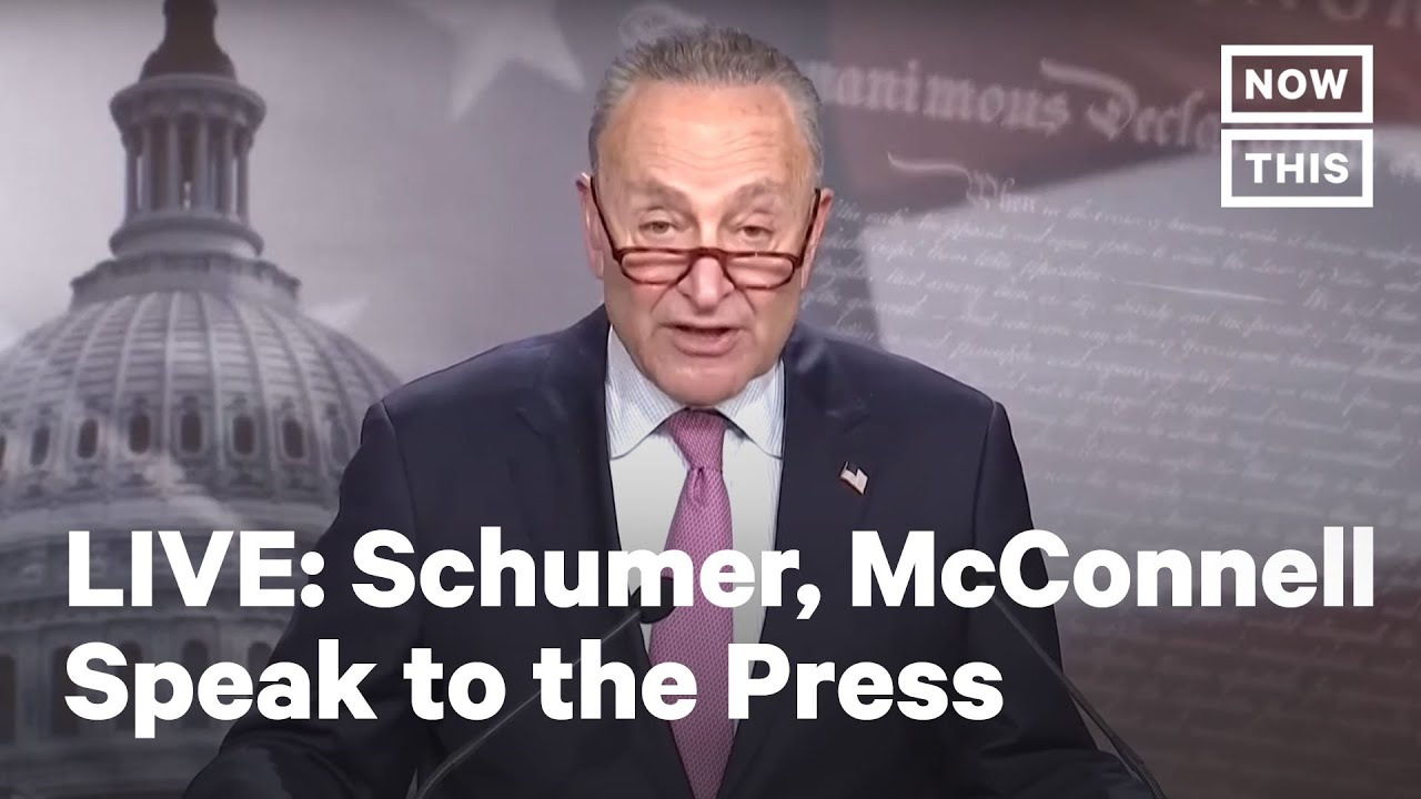 Sen. Mitch McConnell and Sen. Chuck Schumer Hold Press Conferences | LIVE | NowThis
