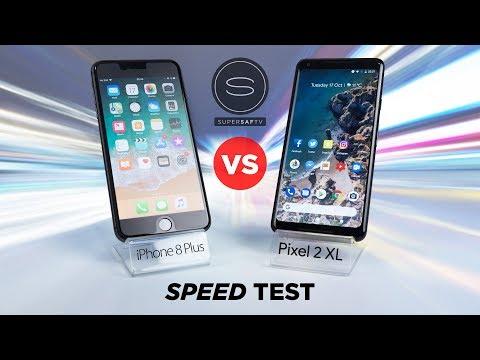 Google Pixel 2 XL vs iPhone 8 Plus SPEED Test