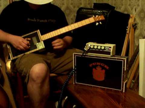 Cigar Box Guitar and amp combo by Back porch Mojo