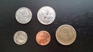 Американские деньги/American money - монеты/coins - Видео Обзор #20 - США, штат Колорадо